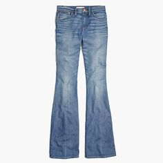 """This leg-lengthening jean is our own icon in the making. With a high rise and a 33"""" inseam, it gives you that '70s cover-girl look—not to mention an unbeatably sweet rearview. Made of best-of-the-best denim, this pair has a perfectly worn-in crease down the center, giving it the feel of a beloved hand-me-down. <ul><li>Monogramming now available for US customers: To have this item embroidered with up to nine letters (initials, a pet's nickname, your hometown) for $10, please call 866 544…"""