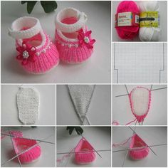 DIY Cute Knit Baby Shoes - for Lois' next state fair ribbon!