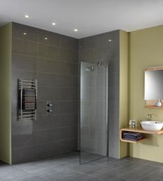grey slate/limestone wetroom shower