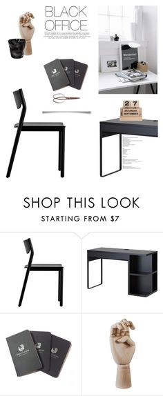 """""""Black Office"""" by canvas-moods ❤ liked on Polyvore featuring interior, interiors, interior design, home, home decor, interior decorating, Resident, House Doctor, Red Clouds Collective and HAY"""