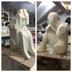 How to make a sculpture 1 #howtomakeasculpture  Come fare una scultura in polistirene estruso . #artefantasy #miriamturoldo #scultura #resina #polistirene