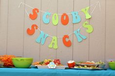Scooby Snacks banner for a Scooby Doo party