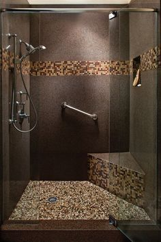 A Personal Day Spa? Yes, Please! Bathroom Remodel By Granite  Transformations. Walking Shower With Beautiful Tile Design