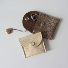 Engagement Ring Pouch Overnight Jewelry His And Her Pebble Lambskin