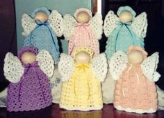 Clothes Pin Angels~Cute and Country Crochet~Cute crochet patterns for sale~country cutie dolls~gingerbread~quick and easy~cute gifts~cows~bears~toys~gingerbread~afghans~slippers~leaflets~ Crochet Angel Pattern, Crochet Angels, Crochet Bebe, Easy Crochet Patterns, Cute Crochet, Crochet Crafts, Crochet Yarn, Crochet Projects, Crochet Style