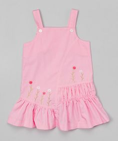 Loving this Pink Floral Ruffle Jumper - Infant & Toddler on #zulily! #zulilyfinds