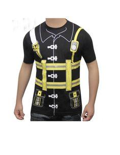 fancy shirts | Mens Fancy Dress T Shirts Printed Stag Pimp DIY Navy Captain Fireman ...