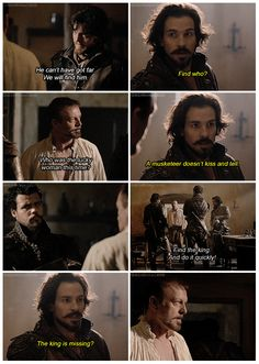 The Musketeers - 2x02 - An Ordinary Man, Looks like its Treville's turn for the 'So-over-your-shit-Aramis' look, Gives Athos a break I suppose, although Treville really doesn't know the half of it...