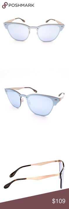 14874710d7 Ray-Ban Blaze Clubmaster BRUSHED COPPER SUNGLASSES Ray-Ban Blaze Clubmaster  RB 3576N 90391U