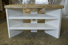 Corner Tv Stand shabby chic rustic hand painted solid wood pine plank | eBay