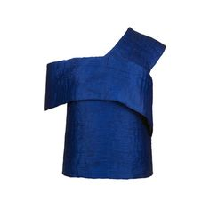 Topshop Pleated Blue One-Shoulder Top