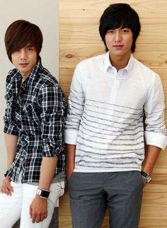 Kim Hyun Joong and Lee Min Oh.