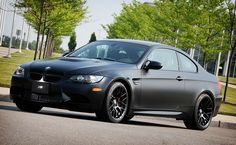 BMW M3, Matte Black. Matte black is where it's at in car and motorcycle paint. Hot.