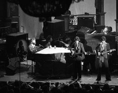 The Band with members Garth Hudson, Rick Danko, Robbie Robertson, Richard Manuel and Levon Helm at the Last Waltz show. Photo: Gary Fong, The Chronicle