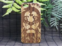 Lion iPhone 6 Case Eco-Friendly Bamboo Wood Cover by iMakeTheCase