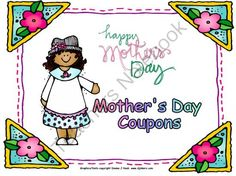 Mothers Day Coupon Book: A Fun and Easy Gift from Creativity in Teaching on TeachersNotebook.com -  (7 pages)  - For Mother's Day, it is always fun for the students to make something to give as a gift. Here is something that is fun, quick, and EASY for the students to complete.