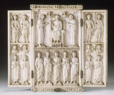 ivory from the Macedonian Age in Constantinople Triptych Byzantine Icons, Byzantine Art, Art Roman, Louvre Paris, Empire Romain, Classical Antiquity, Early Christian, John The Baptist, Medieval Art