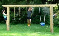 swings and monkey bars