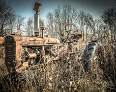 Rustic Farm Tractor  Rustic Wall Art Grunge Tractor Photograph by Scott Krycia