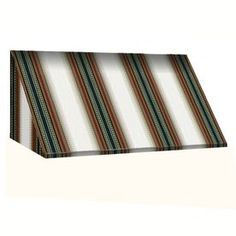 Awntech 172.5-In Wide X 48-In Projection Burgundy/Forest/Tan Stripe Sl