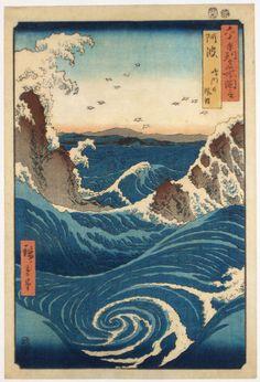 Whirlpool near Naruto by Utagawa Hiroshige