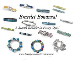 """""""Bracelet Bonanza"""" on Polyvore  So many new and colorful braclets  Check out the catalog at www.liasophia.com/twl"""