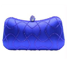 0e58da9f2dbc Newest Purple Crystal Clutches Box Clutch Bags for Womens Party