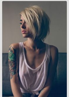 Love the edgy bob look!!!