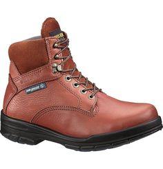 "Men's DuraShocks<sup>®</sup> SR Steel-Toe Direct-Attach EH 6"" Brown Work Boot - W03120 - Steel Toe Work Boots   Wolverine"