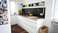 Schwarz ist chic , Tags Beton, Weiß, Tafelfarbe, Küche