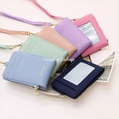 Lanyard ID Holder Wallet Badge Neck Strap Leather Pass Credit Card Business #MOBA