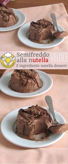 Solo 2 ingredienti e 5 minuti… Semifreddo alla fast, very fast indeed! Only 2 ingredients and 5 minutes of preparation for a soft and creamy spoon, to keep in the freezer at all times! Easy and quick Nutella Nutella Brownies, Nutella Mousse, Cheesecake Recipes, Cookie Recipes, Dessert Recipes, Yummy Food, Tasty, Sweet Tarts, Bonbon