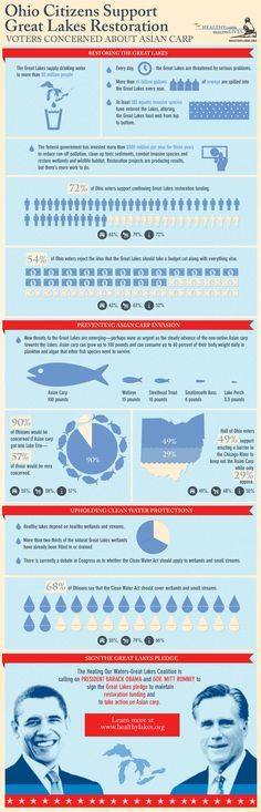 Info graphic on Ohio Ciitzens Support of Great Lakes Restoration
