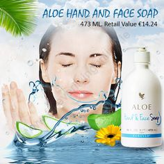 Aloe Hand and Face Soap - It is a gentle soap with moisturizing elements in it. It is suitable for all the family members. It is very mild on the sensitive skin. Face Soap, Forever Living Products, Aloe Vera, Sensitive Skin, Ireland, Moisturizer, Moisturiser, Irish