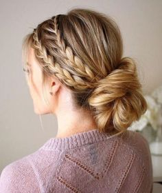 Miraculous Cool Tips: Tight Bun Hairstyles braided hairstyles indian.Simple Everyday Hairstyles wedding hairstyles with vail. Older Women Hairstyles, Everyday Hairstyles, Hairstyles With Bangs, Girl Hairstyles, Bridesmaid Hairstyles, Long Haircuts, Evening Hairstyles, Hairstyles 2018, Hairstyle Ideas