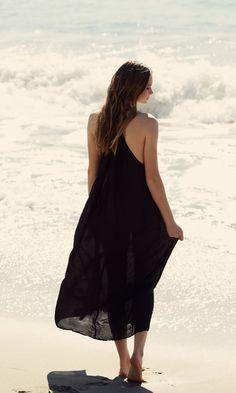 Cotton Silk Maxi Dress :: Summer Cover-Ups//