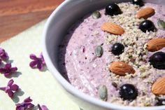 Crème violette au sarrasin - Variation de la crème Budwig