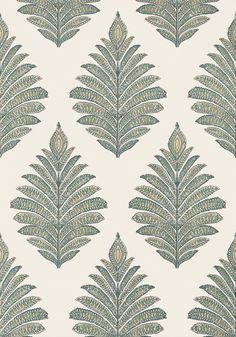 Palampore Leaf - Grey wallpaper   Palampore   Anna French
