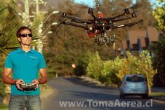 Christian Abascal filmaker y piloto RPA drones. Chile