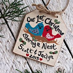 First Christmas Ornament Our 1st Christmas Ornament Keepsake Gift Newlyweds Penny Ornament Hand Stamped Gift Christmas 2019 Newlywed