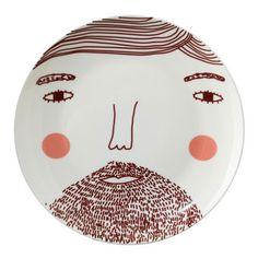 Reform School - Beardy Man Plate by Donna Wilson