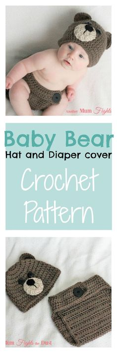 This crochet baby bear outfit pattern is a great pattern for any level of crocheter. The crochet baby bear outfit makes the perfect baby shower gift for that new little one in your life. Click through to get the pattern and start crocheting right away!