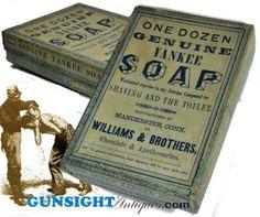 Civil War era YANKEE SHAVING SOAP BOX