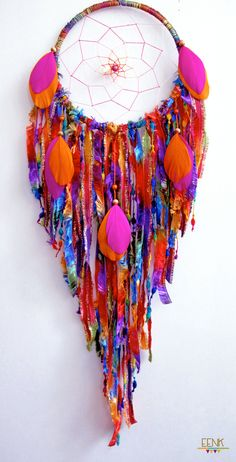The Harvest Moon Large Native Style Handwoven Dreamcatcher by eenk