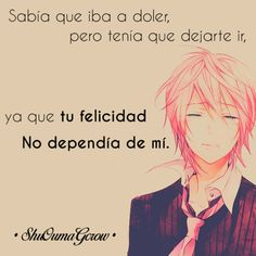 anime frases anime frases ShuOumaGcrow sentimientos dolor