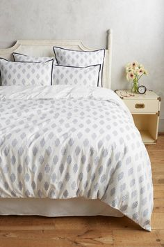 Anthropologie Tiled Jacquard Duvet