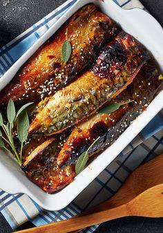Oven Recipes, Fish Recipes, Seafood Recipes, Cooking Recipes, Healthy Recipes, Greek Recipes, Fish And Seafood, Food Inspiration, Good Food