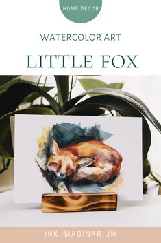 This sweet watercolor illustration of a little fox sleeping with autumn tones will add a warming atmosphere to any space of your home. Perfect for animal lovers, kids rooms, or just as a way to upgrade your wall decor with a touch of color and nature. Painted by the visual artist Laura Manteca Martin from Ink Imaginarium #inkimaginarium #foxillustration #foxwatercolor #foxpainting #foxart #foxartprint #watercolorpainting Fox Illustration, Watercolor Illustration, Animal Illustrations, Wall Art Decor, Wall Art Prints, Fine Art Prints, Nursery Decor, Watercolor Animals, Watercolor And Ink