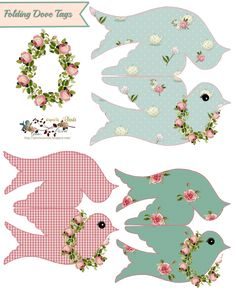 Displaying folding dove tags-glendas world. Templates Printable Free, Printable Paper, Free Printables, Christmas Printables, Christmas Crafts, Etiquette Vintage, Paper Tags, Paper Dolls, Scrapbook Paper