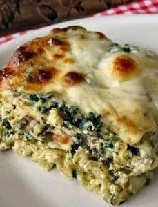 A vegetarian lasagna? In my house? This was a bold move. There is ground rule in my house, they will...